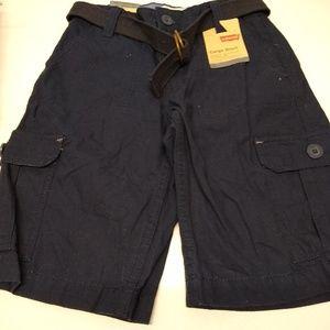 NWT Boys Size 10 Levi's Cargo Shorts w/Belt- Navy